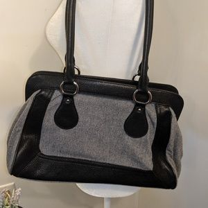 Banana Republic Bags - Banana Republic Black Gray Shoulder Bag Purse
